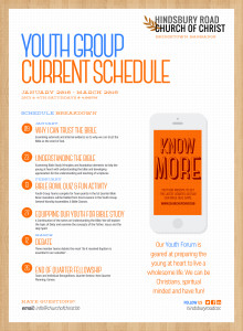 Youth Group Schedule 1Q 2016